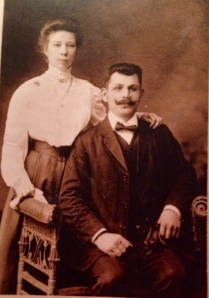 This is my great-great grandmother, Therese Arsenowitz (Hoffman), on her wedding day to my great-great grandfather, Lenard. circa 1910